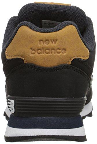 New Balance Kids Classics Synthetic Trainers Black/Tan