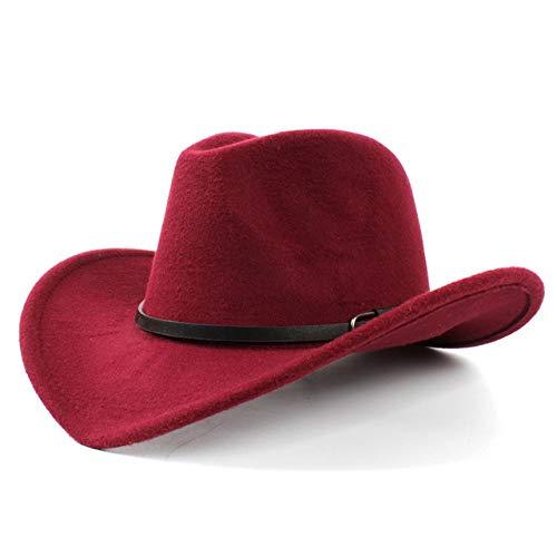 zlhcich Cap net Wolle mitt Cap Günstige edern Cowboyhut Für Gentleman Lady Jazz Cowgirl Mit Leder Cloche Church Sombrero Caps G Wine r Cowgirl Mitt