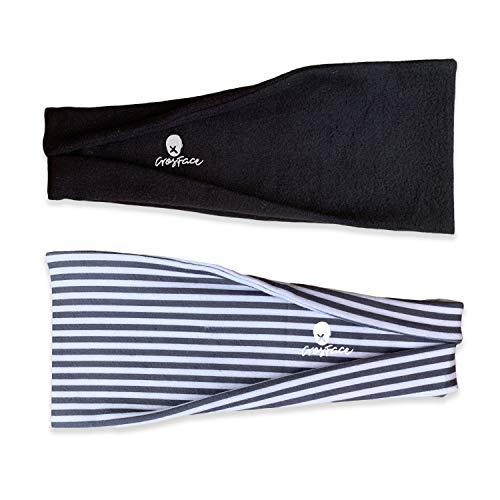 CrosFace Damen Stirnband für Yoga, Laufen, Sport und Gymnastik. Schweißabweisend, Dehnbar und Sicher Stirnbänder