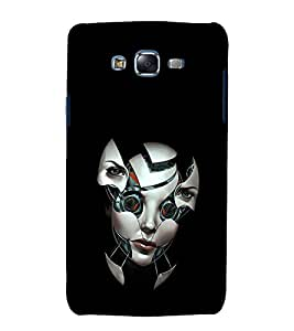 printtech Girl Robot Face Back Case Cover for Samsung Galaxy J7 (2016 ) /Versions: J710F, J710FN (EMEA); J710M (LATAM); J710H (South Africa, Pakistan, Vietnam) Also known as Samsung Galaxy J7 (2016) Duos with dual-SIM card slots Asia/China model with 1080p display and 3 GB RAM