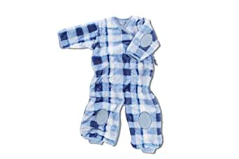 Baby Boum Unisex Baby Super Soft 2.3 Tog Car Seat Sleeping Bag  Jumpsuit In Softy Check For 0 - 9 Months sky Blue/ White