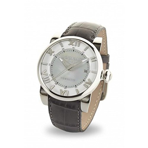 Watch Locman Toscano 0590 V12 – 00 mwpsa Breaker quandrante Steel Mother of Pearl Leather Strap