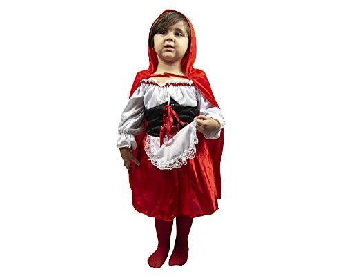 Vestito di carnevale cappuccetto rosso da 3 a 12 anni bambina recita scuola fair (3-5 anni)