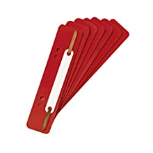The Original Falken - Pack of 250 Plastic Filing Strips, Black red