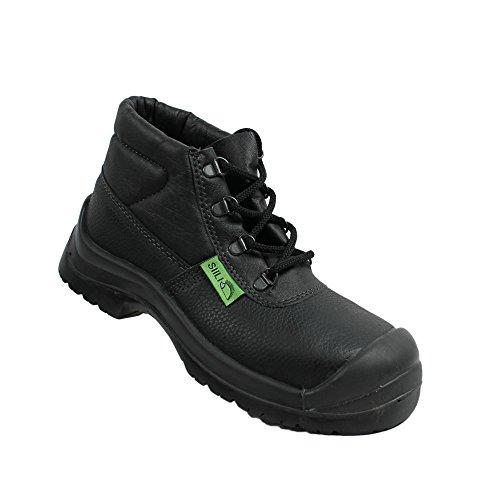 Siili Safety S1P SRC Sicherheitsschuhe Arbeitsschuhe Berufsschuhe Businessschuhe Trekkingschuhe Schwarz Schwarz