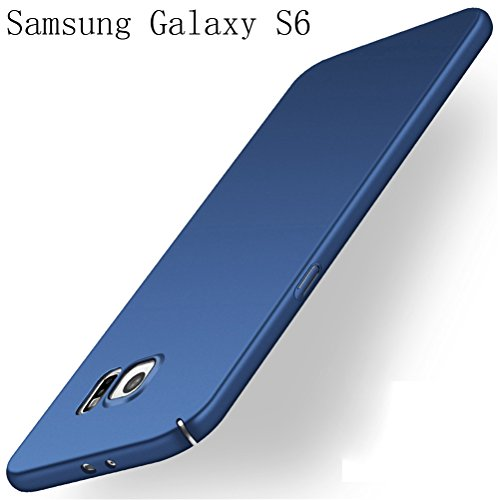 Schrubben Schale (Samsung Galaxy S6 Hülle Adamark Anti-Scratch Ultra Slim Federleicht Anti-dropping Schrubben PC Hart Schutzhülle Stoßfest Schutz Tasche Schale Hardcase für Samsung Galaxy S6 (blau))