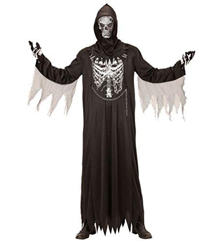 Karneval-Klamotten Sensenmann Kostüm Kinder Skelett Kostüm Der Tod Henker Grim Reaper Halloween Kinder-Kostüm Größe 140