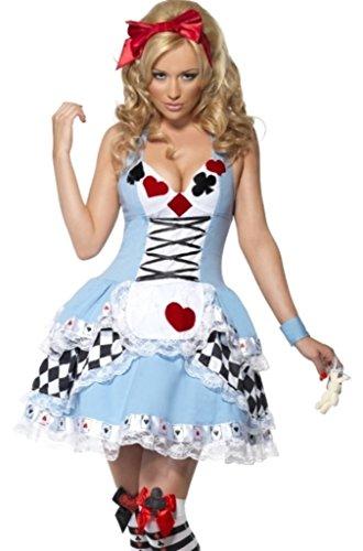 underland Kostüm für die Dame in Größe 38-40 (Alice Im Wunderland Spielkarten Kostümen)