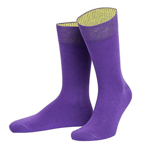 von Jungfeld - Herren Socken/Strumpf Herrensocken Baumwolle 1 Paar 45-47 lila