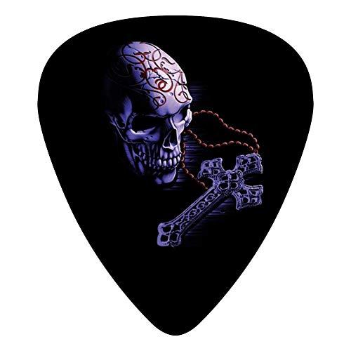 Skull Cross Guitar Picks Celluloid Cool Girls Complete Assorted 12 Pack -
