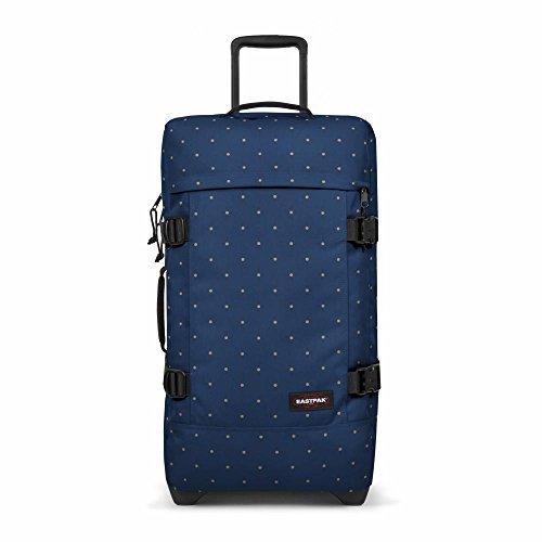 Eastpak Tranverz M Koffer, 67 cm, 80 L, Knit Grey Mehrfarbig (Dot Blau)