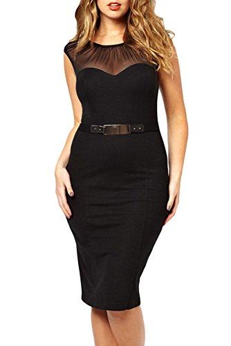 E-Girl femme Noir SY6190XXL robe de cocktail Noir