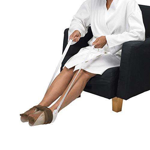 Homecraft, enfile-collants gouttière plastique, enfile-bas, enfile-chaussette, sans packaging, aide à l'habillement pour personnes âgées, handicapées, ou après une chirurgie