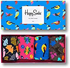 Happy Socks Forest Gift Box, Calcetines para Hombre (Pack de 4)