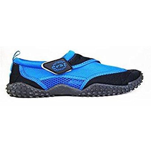 Nalu , Mädchen Aquaschuhe, - Blue with Navy Trim - Größe: Kids UK 10 / EU 28 (Navy Trim Kinder Schuhe)