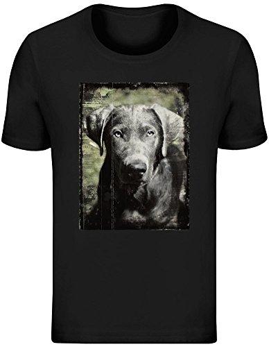 5685bf74c Labrador d Argento - Silver Labrador T-Shirt Top Short Sleeve Jersey for Men