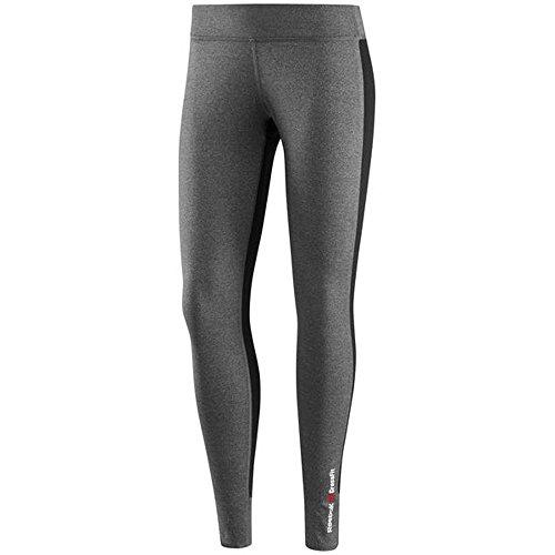 Reebok -  Pantaloni sportivi  - Donna erica grigio scuro / nero L