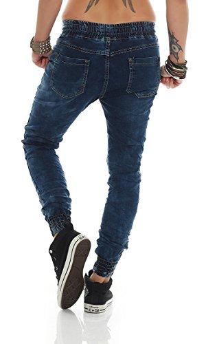 Fashion4Young - Jeans - Femme bleu Schwarz XS=36 bleu foncé