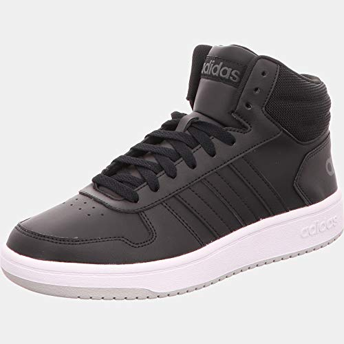 adidas Herren Hoops 2.0 Mid Basketballschuh, Core Black/Core Black/Grey Two F17, 39 1/3 EU