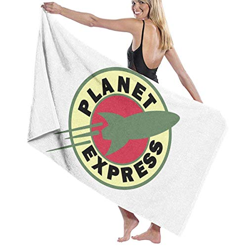 Ghkjhk8790 Bath Towel, Planet Express Bath Towels Super Absorbent Beach Bathroom Towels for Gym Beach SWM Spa -