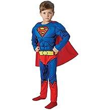 Warner - I-610781m - Disfraz para niños - Superman Lujo Cómic - Talla M