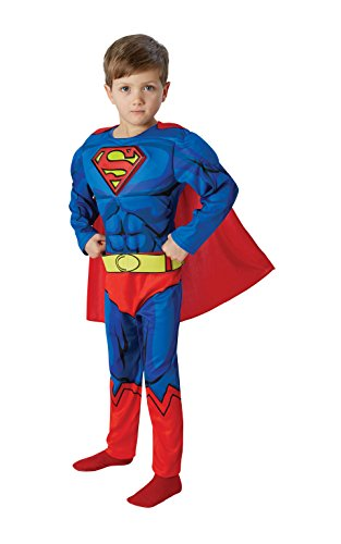 3 Deluxe Muskel Kostüme (Superman Comic Book Deluxe Padded Chest - Kids Costume 3 - 4)
