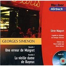 Une erreur de Maigret / La vieille dame de Bayeux. Serie Maigret.