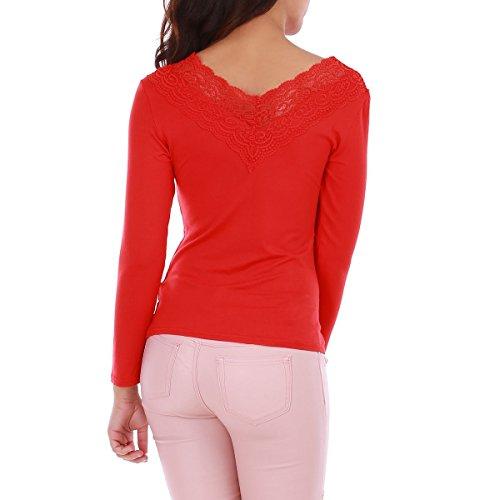 La Modeuse - Top femme en coton Rouge
