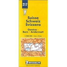 Carte routière : Genève - Bern - Andermatt, N° 217