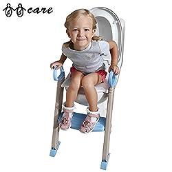 BBCare® Faltbare Baby Töpfchen Ausbildung & Toilette Sitz mit Leiter(Blau & Weiß)