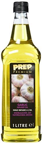 PREP PREMIUM Knoblauchöl 1 x 1000 ml PET - Infused Oil natürliches Knoblaucharoma für Fisch, Geflügel, gegrillten und gebratenen Gerichten, Olivenöl mit Knoblauch