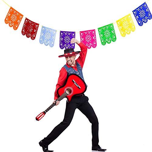 mexikanischem Papier, Picado-Flaggen auf mexikanischer Party-Dekoration für Geburtstage, Ostern, Weihnachten, Fiesta Festivals ()
