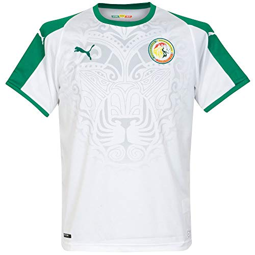 Puma Senegal Home Shirt SS Replica, Maglia Calcio Uomo, White-Pepper Green, XXL