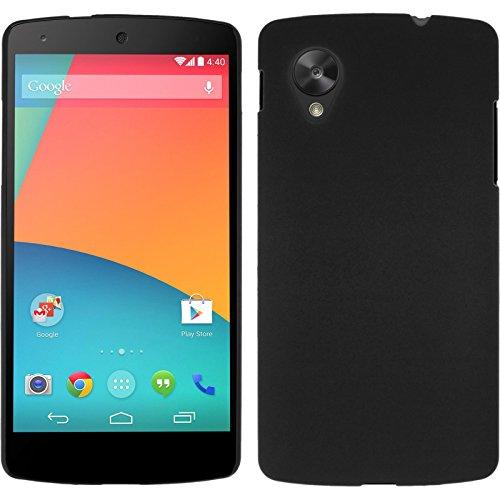 PhoneNatic Case für Google Nexus 5 Hülle schwarz gummiert Hard-case für Nexus 5 Case