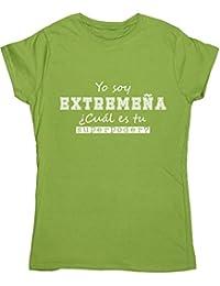 HippoWarehouse Soy Extremeña, ¿Cuál es tu Superpoder? camiseta manga corta ajustada ...