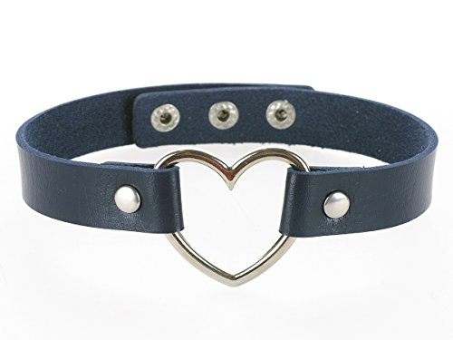 CoolChange Herz Choker Halsband, Blau