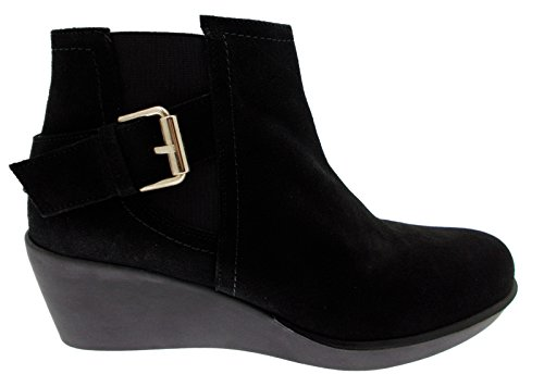 stivaletto nero camoscio zeppa art BORGES anckle boot (41 IT)
