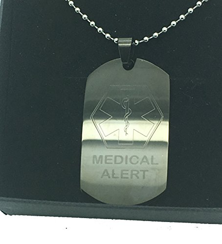 Medical Alert ID Tag, Medical ID-Tags, Medical ID Dog Tags, anpassbar,  anpassbare, personalisierbar, personalisierten, Diamantschliff Präzision