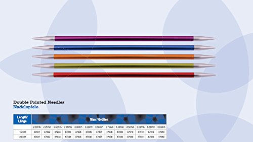 NEUHEIT Knit Pro Nadelspiel 15 cm, ZING, aus Aluminium, versch. Nadelstärken (NS 2.5) -