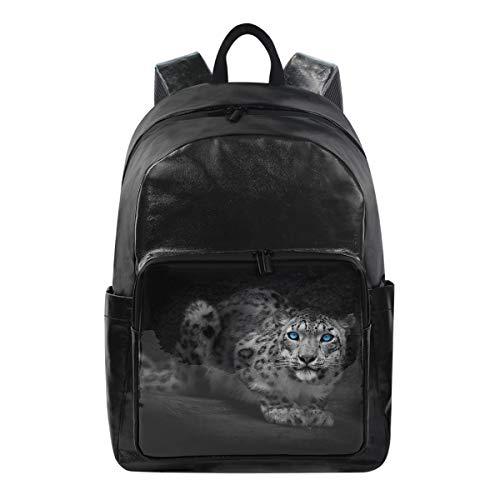 Jansport Geldbörse (Studenten-Rucksäcke für Schule, Buchtasche, Reisen, Wandern, Camping, Tagesrucksack für Jungen und Mädchen, 31,8 x 22,9 x 44,5 cm, hält 31,8 cm Laptop (blauäugiger Piebal-Leopard))