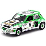 SOLIDO - Renault - 5 Turbo Gr B - Rallye de Lozere 1985 Voiture Miniature de Collection, 1801303, Blanc/Vert/Noir