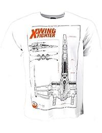 Star Wars -EL Despertar DE LA Fuerza X-Wing Luchador - Camiseta Oficial Hombre