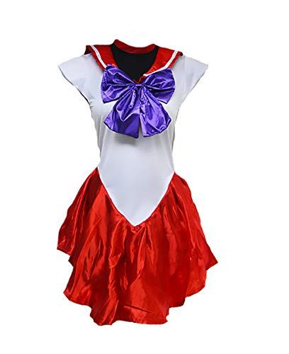 Targogo Sailor Moon Cosplay Faschingskostüme Damen Kostüm Karnevalskostüme Geschenke Für Frauen Cosplay Cheerleader Kostüm Dirndl Midi Kurz Kleider Halloween Kostüm Mädchen