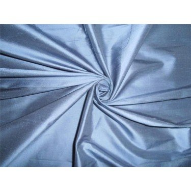 100% Pure Seide Dupionseide Dusty Blau Stoff 111,8cm by the Yard -