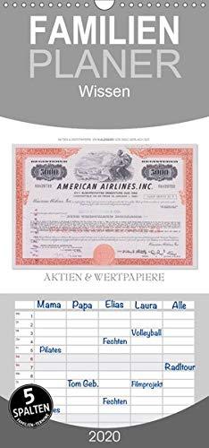 Aktien & Wertpapiere - Familienplaner hoch (Wandkalender 2020 , 21 cm x 45 cm, hoch): Wertvolle alte amerikanische Aktien wurden zu einem ... 14 Seiten ) (CALVENDO Wissen)
