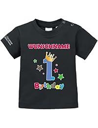 Geburtstag - First Birthday mit Wunschname - Junge - BABY - T-SHIRT