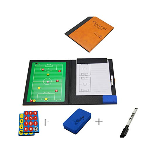 CHSEEA Cartella Tattica Magnetica per Allenatore di Calcio Lavagna Calcio Tattica Calcio Tattica Fogli con Penna Goa e Magneti #1