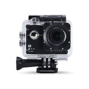Procus Rush 2.0 16MP 4K HD Action Camera Waterproof with Wi-Fi Basic Pack (Black)