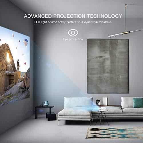 "41SSaDZftrL. SS500  - APEMAN Projector Portable Mini Projector 5500 Lumens [2021 Upgraded] Support 1080P Max 180"" Display LCD Home Cinema Projector 50000 Hour Life HDMI, VGA, USB, SD, AV Input Chromecast Compatible"
