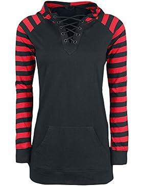 Gothicana by EMP Goblin Jersey con Capucha Mujer negro/rojo
